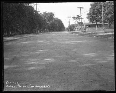 Street Improvement Photographs -- Box 37, Folder 54 (Kellogg Avenue) -- negative, 1927-10-05