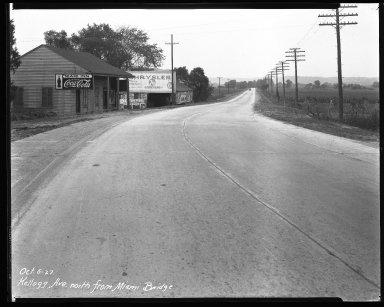 Street Improvement Photographs -- Box 37, Folder 54 (Kellogg Avenue) -- negative, 1927-10-06