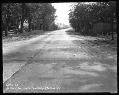 Street Improvement Photographs -- Box 37, Folder 54 (Kellogg Avenue) -- negative, 1927-10-06
