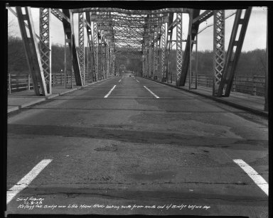 Street Improvement Photographs -- Box 37, Folder 56 (Kellogg Avenue Bridge) -- negative, 1938-12-06