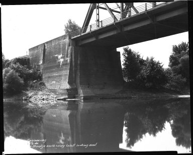 Street Improvement Photographs -- Box 37, Folder 57 (Kellogg Avenue Bridge) -- negative, 1944-06-28