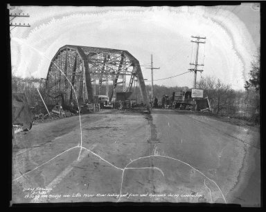 Street Improvement Photographs -- Box 37, Folder 59 (Kellogg Avenue Bridge) -- negative, 1939-02-16