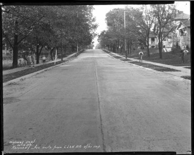 Street Improvement Photographs -- Box 38, Folder 02 (Kennedy Avenue) -- negative, 1938-10-12