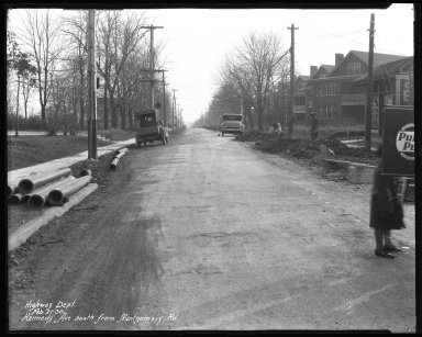 Street Improvement Photographs -- Box 38, Folder 02 (Kennedy Avenue) -- negative, 1930-02-21