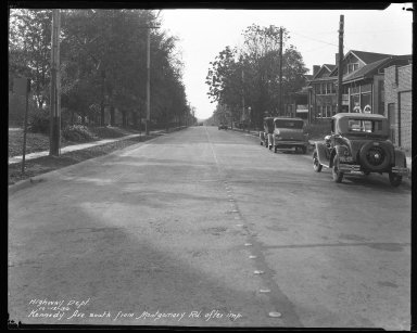 Street Improvement Photographs -- Box 38, Folder 02 (Kennedy Avenue) -- negative, 1930-10-12