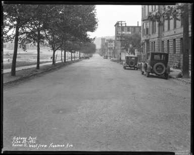 Street Improvement Photographs -- Box 38, Folder 04 (Kenner Street) -- negative, 1932-06-30