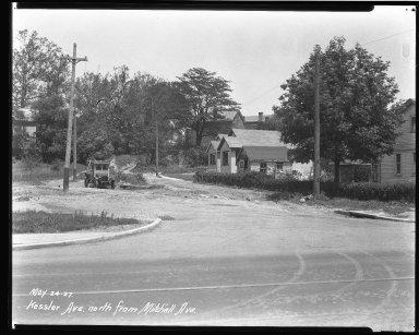 Street Improvement Photographs -- Box 38, Folder 06 (Kessler Avenue) -- negative, 1927-05-24