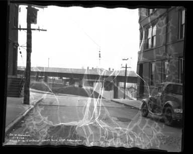 Street Improvement Photographs -- Box 38, Folder 07 (Kilgour Street) -- negative, 1938-11-08