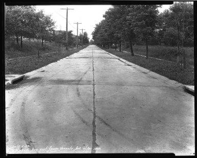 Street Improvement Photographs -- Box 38, Folder 09 (Kirkup Avenue) -- negative, 1929-04-05