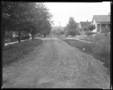 Street Improvement Photographs -- Box 38, Folder 09 (Kirkup Avenue) -- negative, 1929