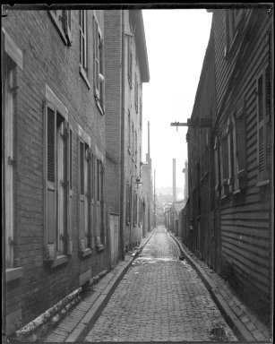 Street Improvement Photographs -- Box 38, Folder 15 (Knight Alley) -- negative, 1928