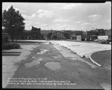 Street Improvement Photographs -- Box 38, Folder 17 (Knowlton Corner By-Pass) -- negative, 1949-10-07