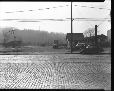 Street Improvement Photographs -- Box 38, Folder 18 (Knowlton Corner By-Pass) -- negative, 1948-12-08