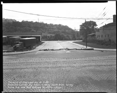 Street Improvement Photographs -- Box 38, Folder 19 (Knowlton Corner By-Pass) -- negative, 1949-10-07