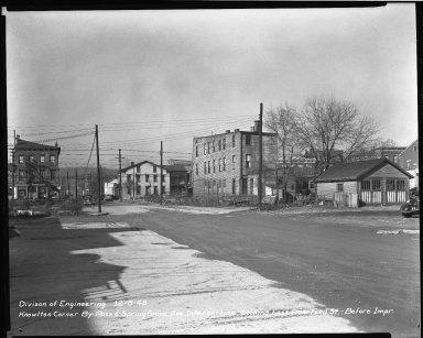Street Improvement Photographs -- Box 38, Folder 19 (Knowlton Corner By-Pass) -- negative, 1948-12-08