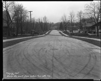 Street Improvement Photographs -- Box 38, Folder 21 (Koenig Street) -- negative, 1931-02-16