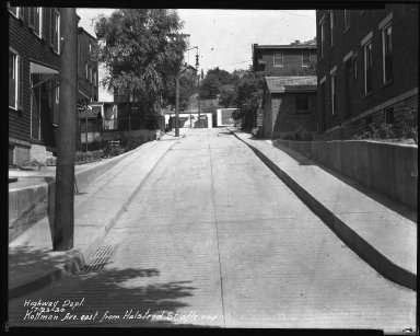 Street Improvement Photographs -- Box 38, Folder 22 (Kottman Street) -- negative, 1930-07-23