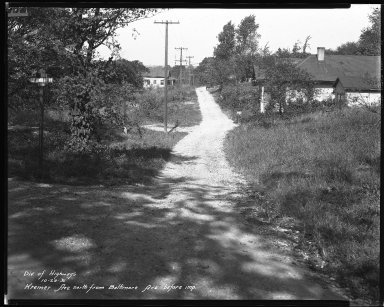 Street Improvement Photographs -- Box 38, Folder 24 (Kremer Avenue) -- negative, 1931-10-20