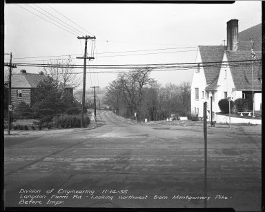 Street Improvement Photographs -- Box 38, Folder 33 (Langdon Farm Road) -- negative, 1952-11-14