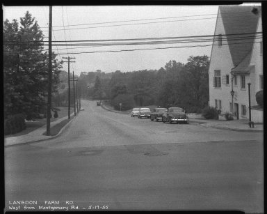 Street Improvement Photographs -- Box 38, Folder 33 (Langdon Farm Road) -- negative, 1955-05-17