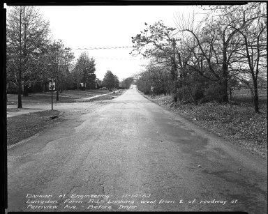 Street Improvement Photographs -- Box 38, Folder 34 (Langdon Farm Road) -- negative, 1952-11-14