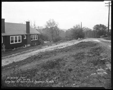 Street Improvement Photographs -- Box 38, Folder 36 (Langland Street) -- negative, 1930-04-25