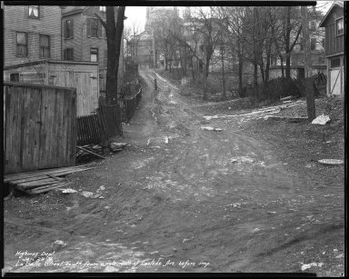 Street Improvement Photographs -- Box 38, Folder 39 (La Salle Street) -- negative, 1931-01-29
