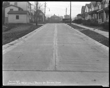 Street Improvement Photographs -- Box 38, Folder 40 (Latham Avenue) -- negative, 1929-01-04