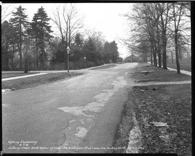 Street Improvement Photographs -- Box 38, Folder 41 (Lathrop Place) -- negative, 1941-04-01