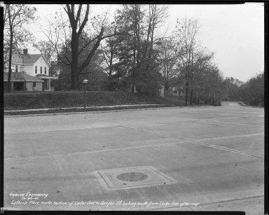 Street Improvement Photographs -- Box 38, Folder 41 (Lathrop Place) -- negative, 1941-10-30