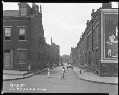 Street Improvement Photographs -- Box 38, Folder 44 (Laurel Parkway) -- negative, 1932-06-30