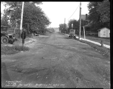 Street Improvement Photographs -- Box 38, Folder 48 (Lawndale Avenue) -- negative, 1930-09-13