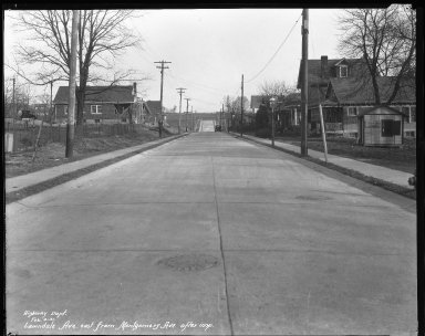 Street Improvement Photographs -- Box 38, Folder 48 (Lawndale Avenue) -- negative, 1931-02-04