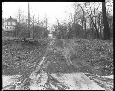 Street Improvement Photographs -- Box 38, Folder 49 (Leblond Avenue) -- negative, 1932-02-08