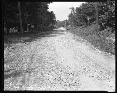 Street Improvement Photographs -- Box 38, Folder 51 (Lester Road) -- negative, 1928-08-10