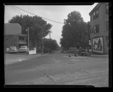 Street Improvement Photographs -- Box 38, Folder 52 (Lester Road) -- negative, 1945
