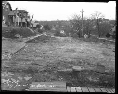 Street Improvement Photographs -- Box 38, Folder 54 (Ley Avenue) -- negative, 1927-04-26