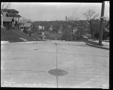 Street Improvement Photographs -- Box 38, Folder 54 (Ley Avenue) -- negative, 1929-03-27