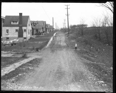 Street Improvement Photographs -- Box 39, Folder 01 (Liberty Street) -- negative, 1930-02-26