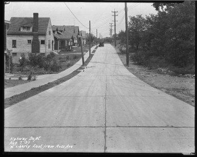 Street Improvement Photographs -- Box 39, Folder 01 (Liberty Street) -- negative, 1930-08-07