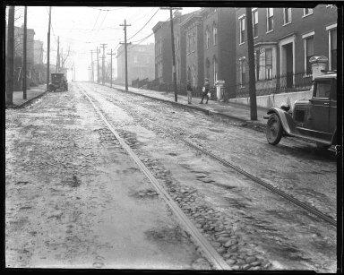 Street Improvement Photographs -- Box 39, Folder 09 (Liberty Street) -- negative, 1929