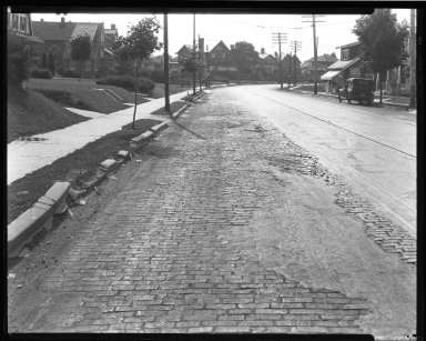 Street Improvement Photographs -- Box 39, Folder 10 (Liberty Street) -- negative, 1929