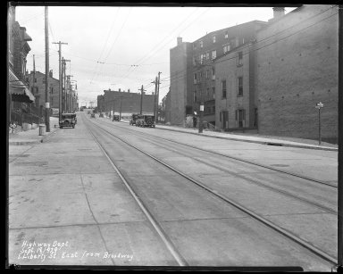 Street Improvement Photographs -- Box 39, Folder 11 (Liberty Street) -- negative, 1929-09-18