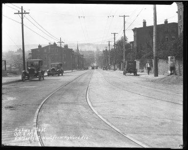Street Improvement Photographs -- Box 39, Folder 11 (Liberty Street) -- negative, 1929-10-08