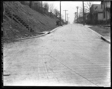 Street Improvement Photographs -- Box 39, Folder 12 (Liddell Avenue) -- negative, 1928-12-04