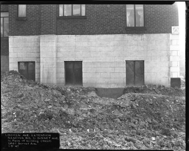 Street Improvement Photographs -- Box 39, Folder 16 (Lincoln Avenue) -- negative, 1947-01-09