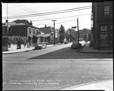Street Improvement Photographs -- Box 39, Folder 16 (Lincoln Avenue) -- negative, 1946-09-04