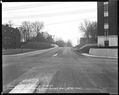 Street Improvement Photographs -- Box 39, Folder 17 (Lincoln Avenue) -- negative, 1947-12-30
