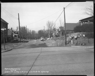 Street Improvement Photographs -- Box 39, Folder 21 (Lisbon Avenue) -- negative, 1944-02-05