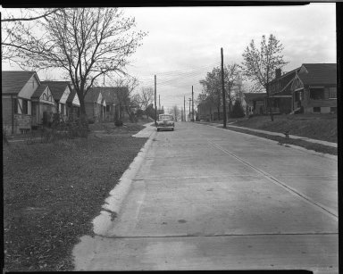 Street Improvement Photographs -- Box 39, Folder 21 (Lisbon Avenue) -- negative, 1944